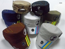 custom flat top military cap with logo