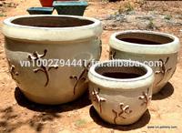 Outdoor glazed planter - Garden clay pottery - Garden decoration & ornaments - Vietnam pottery Manufacturer & Supplier, Exporter