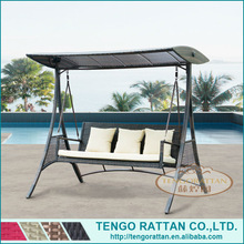 leisure rattan hanging chair with three seats(TG0153)