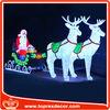 Wholesale Large outdoor santa sleigh deer Xmas decoration
