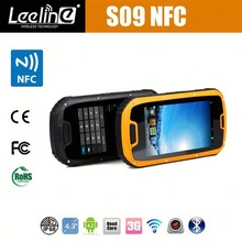 Hot sale Orignal S09 NFC reader PTT Walkie Talkie IP68 solar mobile phone charger rugged nfc android smartphone