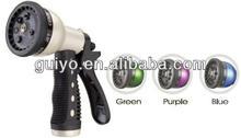 Garden Irrigation 7 Pattern Metal Spray Trigger Hose Nozzle