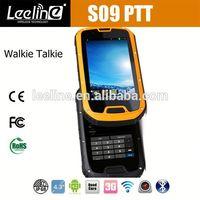 Orignal S09 NFC reader PTT Walkie Talkie IP68 elderly sos button big keyboard cell phones rugged nfc android smartphone