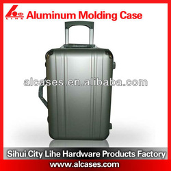 custom instrument case abs pc film trolley luggage case with documents pocket