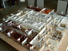 customized miniature model making for office building internal layout