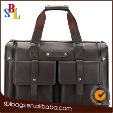 Hot sale brown men travel bag & travel luggage bag & stylish leather trolley travel bag