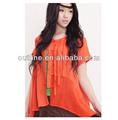 2014 verano nuevo y brillante color de estilo étnico bordado blusas top con las fronteras
