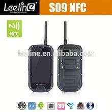 S09 NFC PTT outdoor top 10 mobile phone 2012,waterproof Smartphone android IP68 Waterproof Dustproof Shockproof
