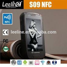 S09 NFC PTT at&t military smartphones,waterproof Smartphone android IP68 Waterproof Dustproof Shockproof