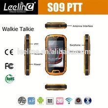 S09 NFC PTT military grade cell phones at&t,waterproof Smartphone android IP68 Waterproof Dustproof Shockproof