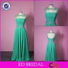 ED-E076 Elegant Shinning High Neck Crystal Beaded Side Slit Evening Dress 2014