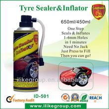 tire inflator foam fix a flat