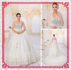 Guangzhou Stephanie Wedding Dress A6818 Luxurious Crystsals and Diamonds Sweetheart Cathedral Train Wedding Dress 2014