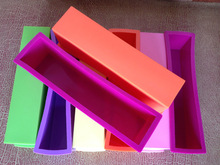 Wholesale Handmade DIY Silicone Rectangle Loaf Soap Mold