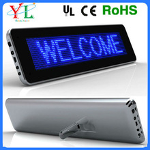 beautiful design popular mini desktop led moving message display sign rechargeable battery powered led sign