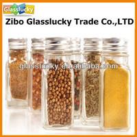 Square mini glass spice jars wholesale , glass jars for spices