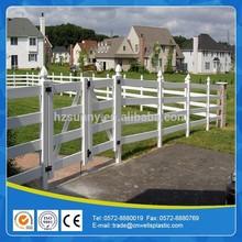3 rail PVC horse fence gate