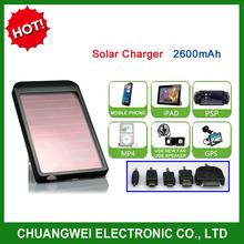 power bank 2600mAh solar/sun solar power,mobile solar charger