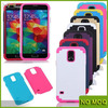 2 in 1 PC + silicone mobile phone hybrid case for samsung galaxy s5 i9600