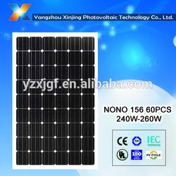 high efficiency and low price solar module 255watt 60pcs solar cell