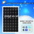 Alta eficiencia y bajo precio solar módulo solar 255 watt 60 unids solar celular