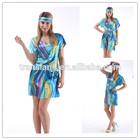2014 short sleeve fashion women silk nightgown