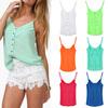 Women Spring Summer European Style Fashion Sleeveless Candy Color Tops Brief Casual Sexy Camis XXXL 6539