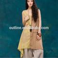 2014 verão novo estilo boêmio de one piece appliqued tie dye impresso praia vestido de babados hem irregular design