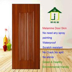 New design Melamine Moulded Door Skin JL-808 teak