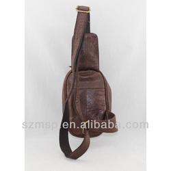 vintage cowhide leather sling bag,hot fashion cross bag