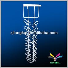 China manufacturer white metal hanging wine glass rack