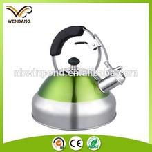 modern new design no leakage whistling stainless steel kettle