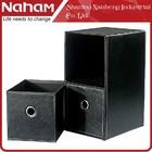 NAHAM CD/DVD File Sundries Cube Storage Two-Drawer Organizer Case