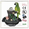 fancy papagaio decoração de casa do pássaro tabletop fonte
