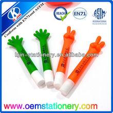 finger shape advertising ball pen /promotional ball pen /plastic ball pen