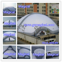 Inflatable air supported dome structures / inflatable dome tent / inflatable dome