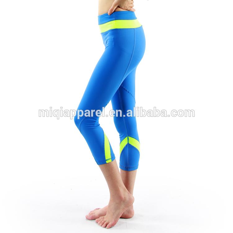 Pants gt bright neon color yoga clothes nylon capris leggings crop