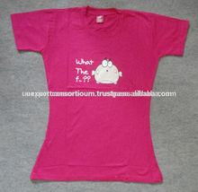 Pink Newest Design Fashion Womans T-Shirt