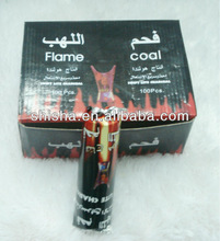 Flame coal round charcoal tablet