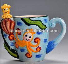 Colorful sea life animal 3d ceramic mug