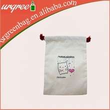 Cheap custom plain drawstring bags no minimum