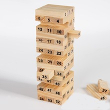 Educational Wooden Jenga Game Set for Assemblage Art