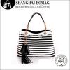 2014 Top Stylish Contrast Color Snake Skin PU Leather Handbag