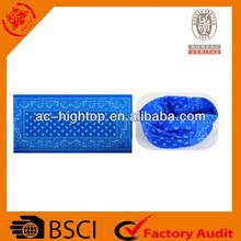 BSCI blue color microfiber tube headwear
