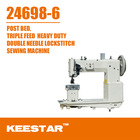Keestar 24698-6 industrial double needle post bed sewing machine for bags