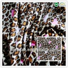 Factory price leopard print fabric velvet