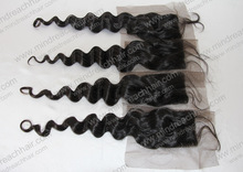 Cheap human hair free parting lace front closure 4*4 size stock lace closure overnight shipping