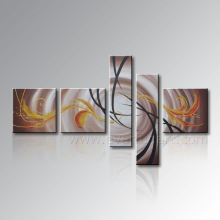 Handmade 5 piece Art Set modern abstract acrylic painting on canvas for home decoration