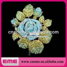 Flower Unique Beautiful Sparking Mini Crystal Rhinestone Brooch Pin