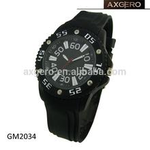 promotional men waterproof silicone bracelet watch